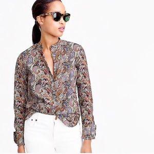 J Crew Liberty Art Fabrics Popover Shirt Top 12
